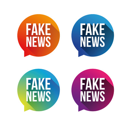 Fake News speech bubble set vector
