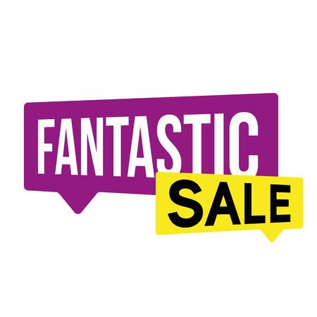Fantastic Sale label bubble vector