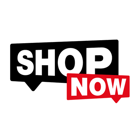 Shop Now label sign vector