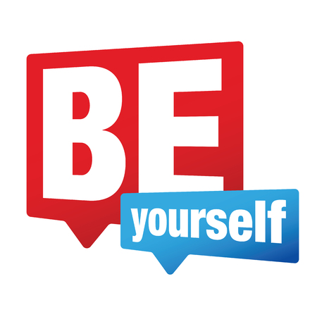 Be Yourself label sign vector