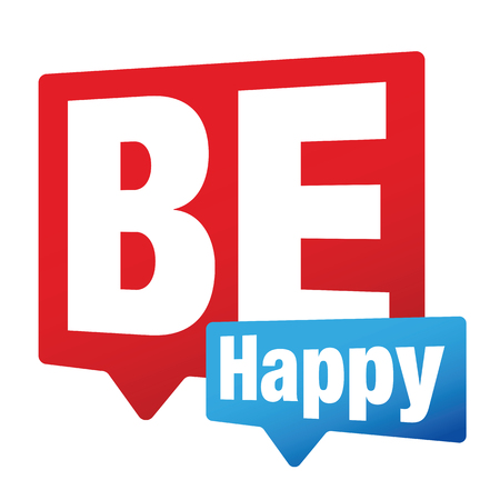 Be Happy sign label vector