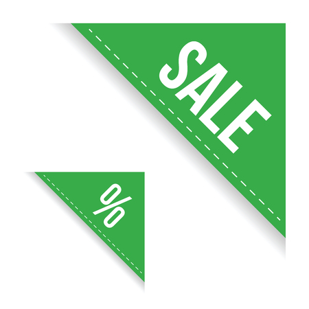 Sale corner ribbon set vector