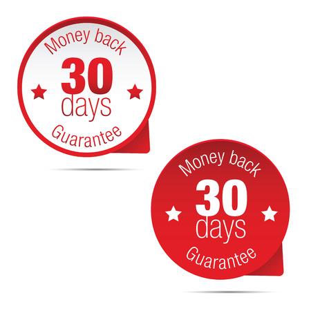 Money back guarantee thirty days vector