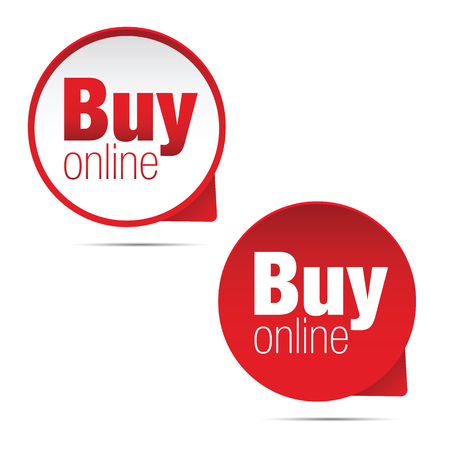Buy online label sign vector