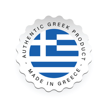 Authentic Greek product label tag vector Stock Illustratie
