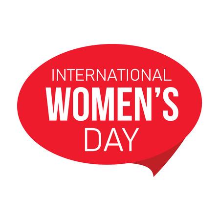 international womens day label vector
