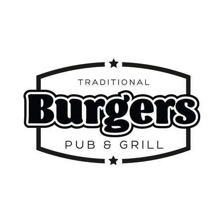 Burgers Vintage sign black logo