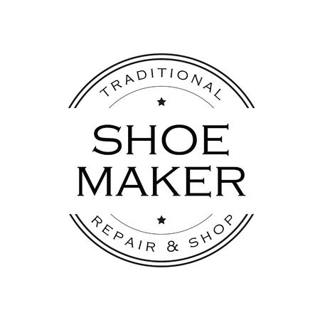 Shoe Maker vintage sign logo Ilustracja