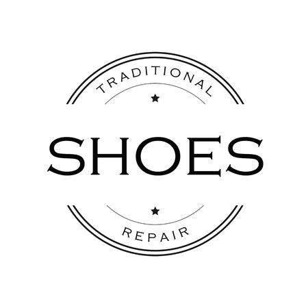 Shoes Repair vintage sign logo