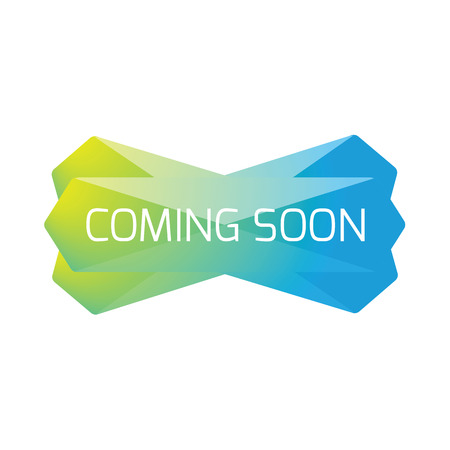 Coming Soon web banner low poly vector
