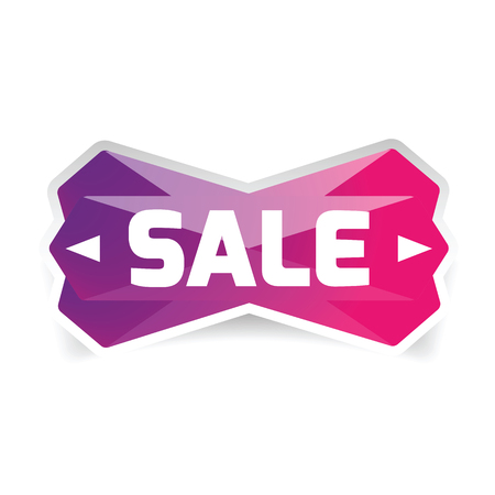 Sale Button low poly vector Stock Illustratie