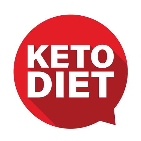 Keto diet label tag bubble