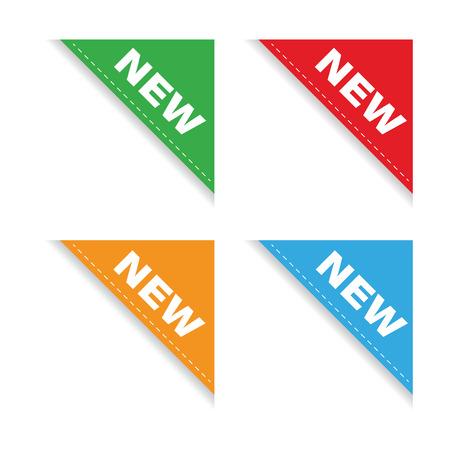 New corner ribbon set Vettoriali