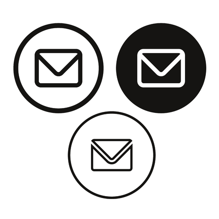 Email message icon vector set Stock Illustratie