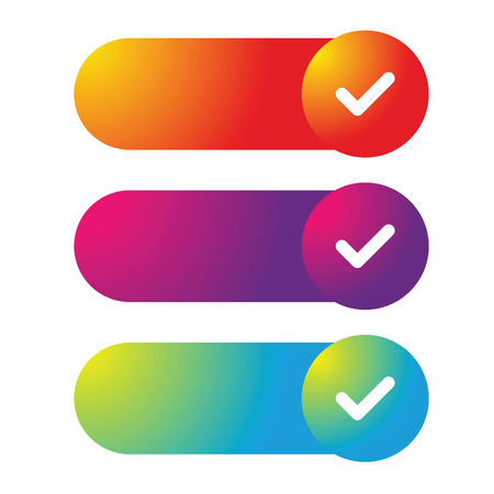 Colorful Web Button set vector Stock Illustratie