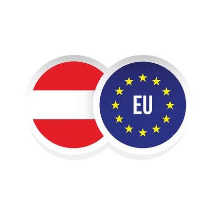Austria European union badge flag vector Standard-Bild - 122797509