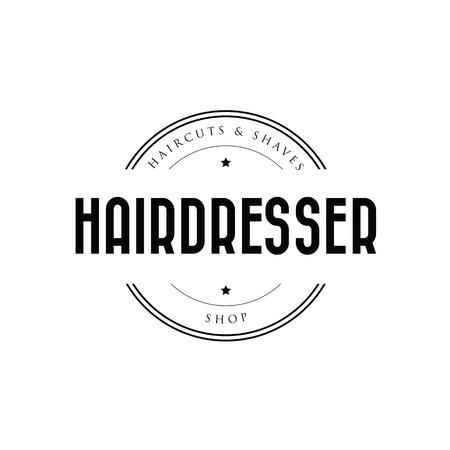 Hairdresser barber logo vintage Stock Illustratie