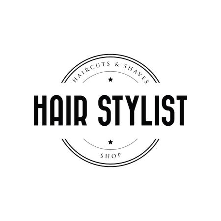 Hair Stylist barber logo vintage Stock Illustratie