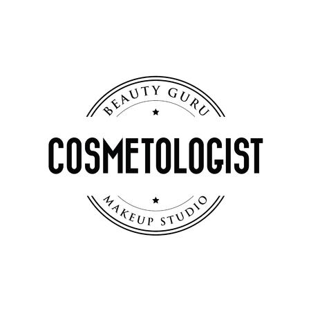 Cosmetologist logo stamp vintage