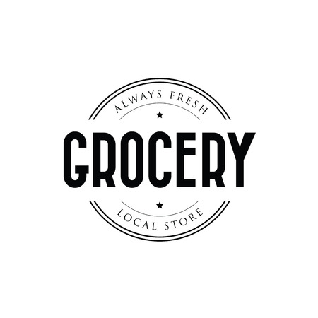 Grocery store local market vector