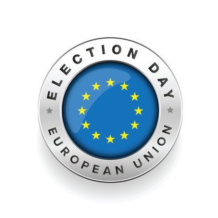 EU election badge sign vector