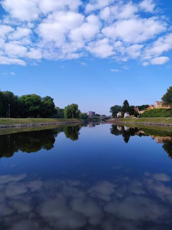 River reflexion sky landscape Stockfoto