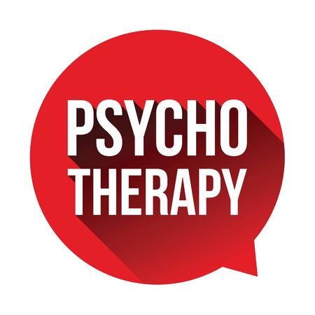 Psychotherapy label speech bubble vector Иллюстрация