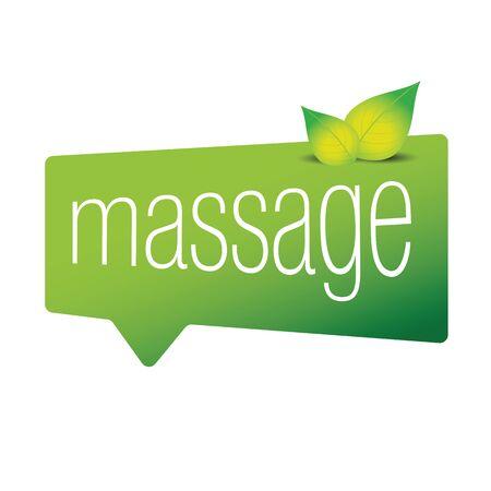 Massage sign speech bubble vector Иллюстрация
