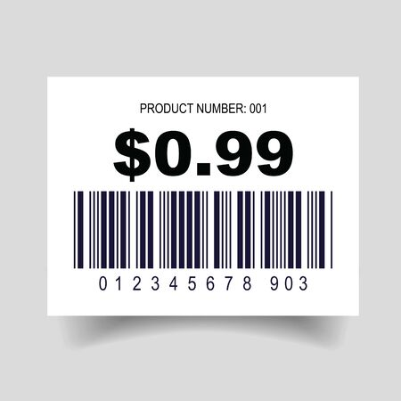 Price tag barcode label set