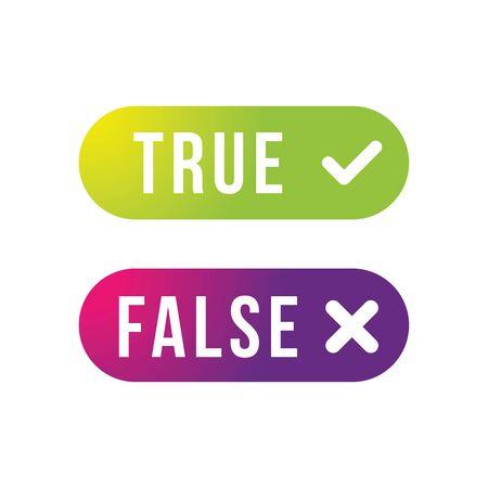 True and False label set button