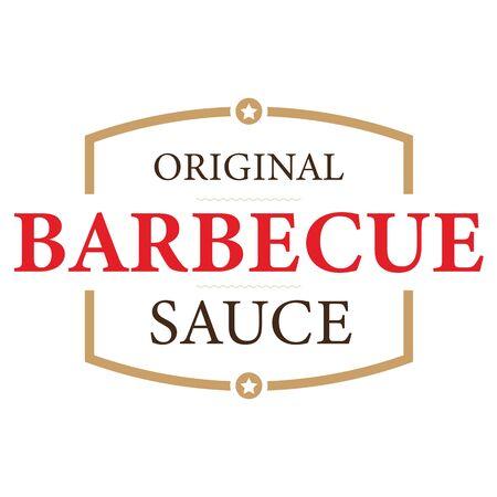 Original Barbecue Sauce label tag Ilustração