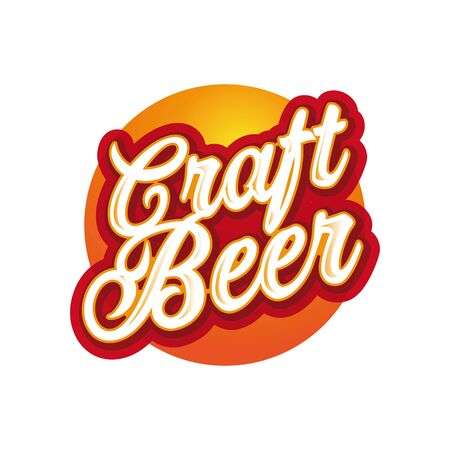 Craft beer sign label lettering