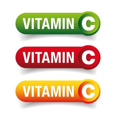 Vitamin C healthy button set