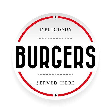 Burgers vintage stamp black sign Ilustração