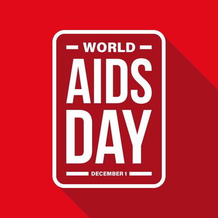 World Aids Day sign red
