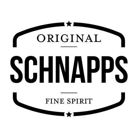Schnapps Fine Spirit sign black