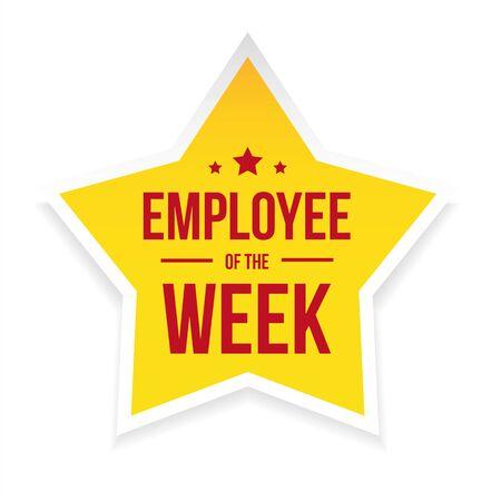 Best Employee of the Week award badge