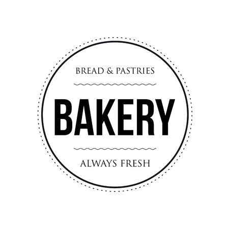 Bakery vintage stamp black sign Ilustração
