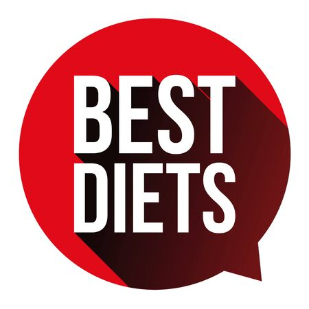 Best Diets sign 3d button vector tag