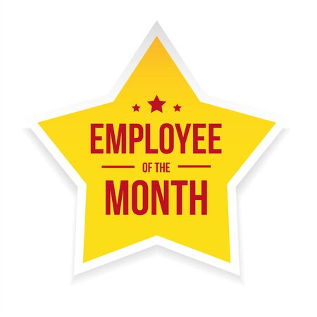 Best Employee of the Month award badge