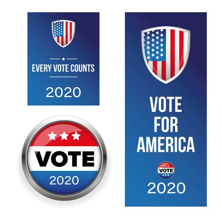 Presidential election Vote badge set