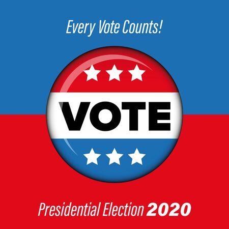 Presidential election Vote badge poster Ilustração