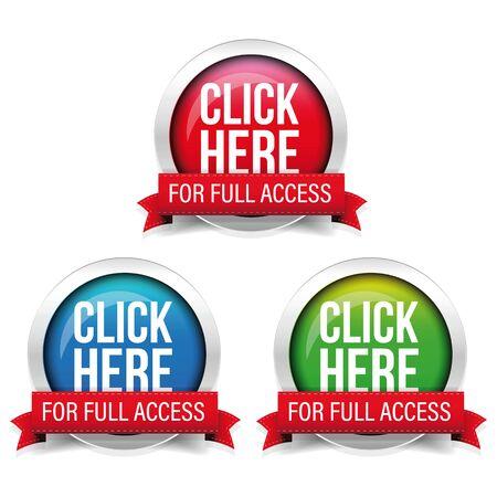 Click Here for full access button Ilustração