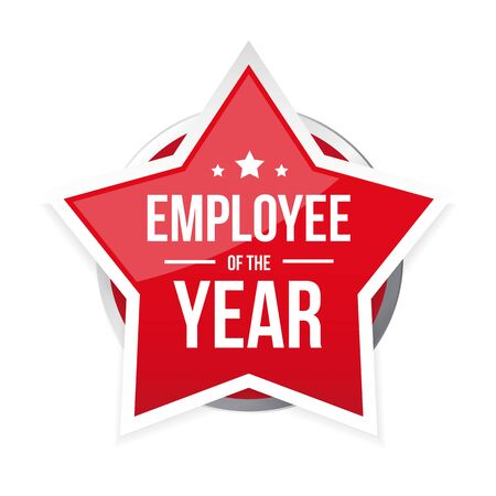 Best Employee of the Year award badge vector Ilustração