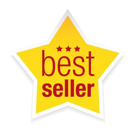 Best seller icon Star isolated
