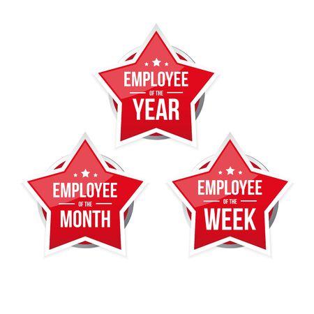 Best Employee of the Year award badge Ilustração