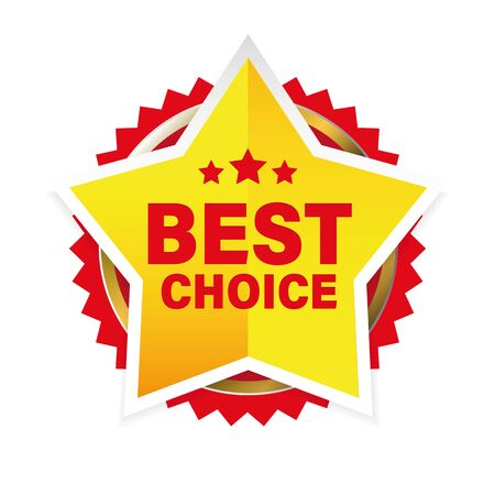 Best Choice award badge star
