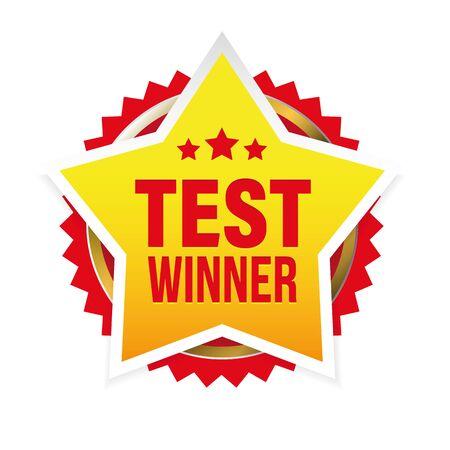 Test Winner award badge star