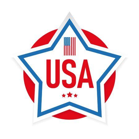 USA flag stripes and star vector Ilustração