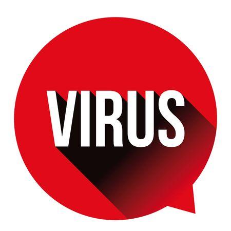 Virus Warning sign label bubble